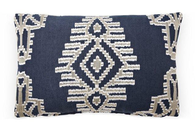 Tikal 12x18 Pillow, Indigo