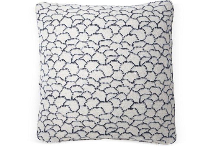 Mountain Wave 20x20 Pillow, Blue