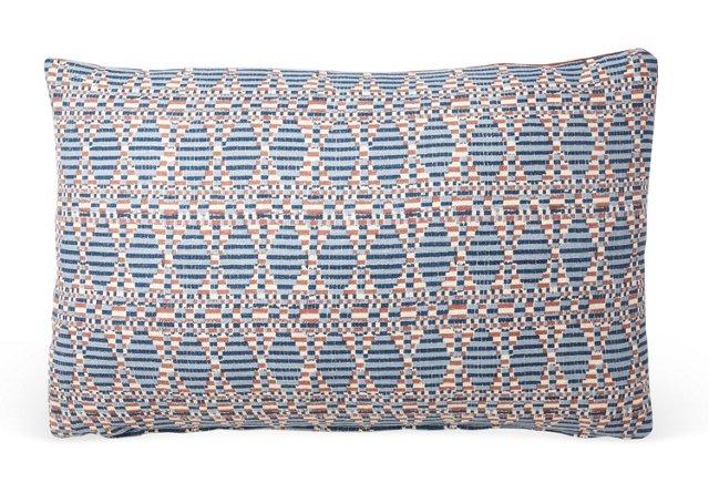 Kata 12x18 Pillow, Blue/Coral