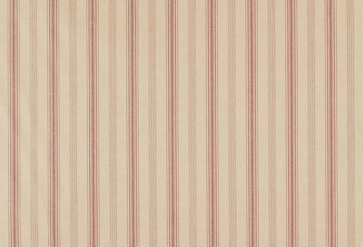 Casey Stripe Fabric, Red