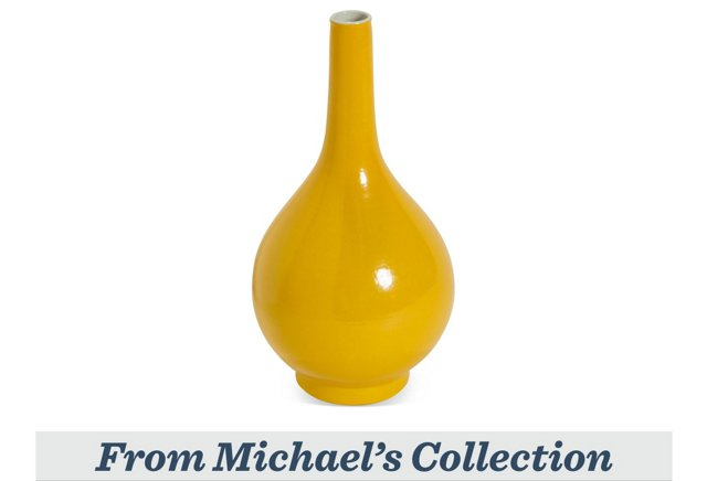 Pearl Vase, Imperial Yellow