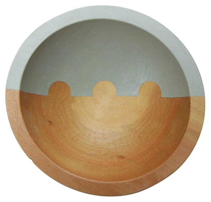 "7"" On the Horizon Wood Bowl, Dove Gray"