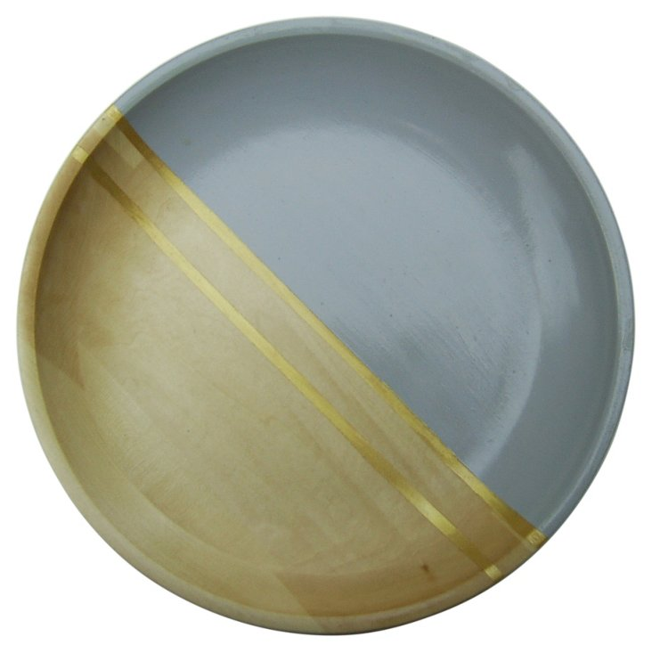 """12"""" Wood Serving Tray, Dove Gray"""