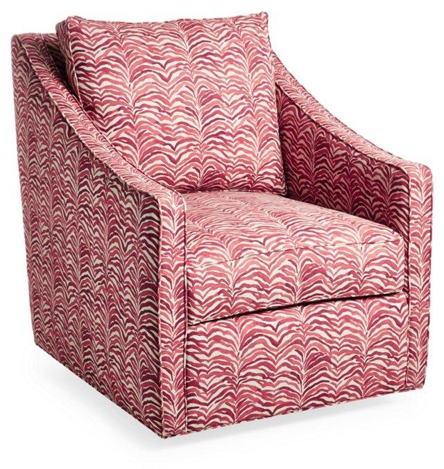Baron Swivel Chair, Red