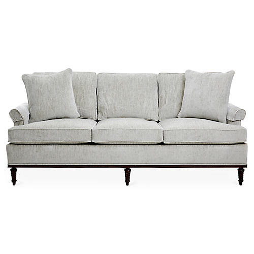 Chenille Skirted Sofa: Elegant & Modern Sofas & Settees