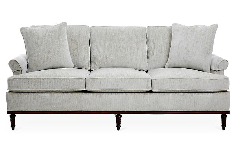 Garbo Sofa, Gray Chenille