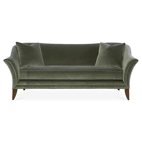 """Charlotte 81"""" Sofa, Gray Velvet"""