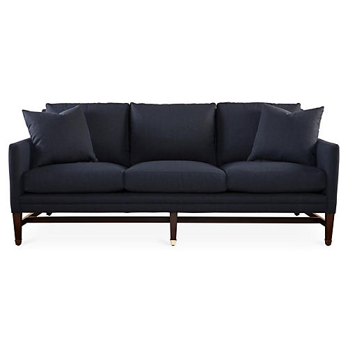 "Arden 82"" Sofa, Navy Crypton"