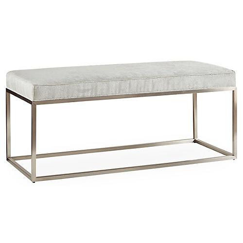 "Domino 50"" Bench, Gray"