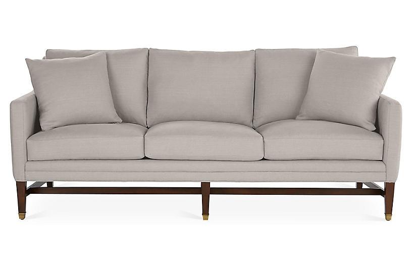 Arden Sofa, Gray Linen