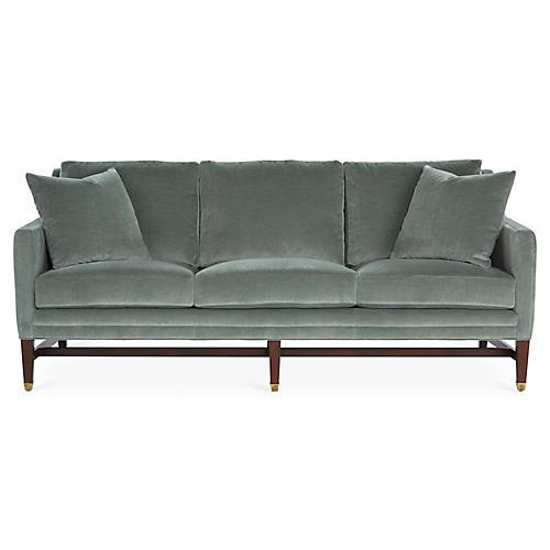 Arden Sofa, Sage Velvet
