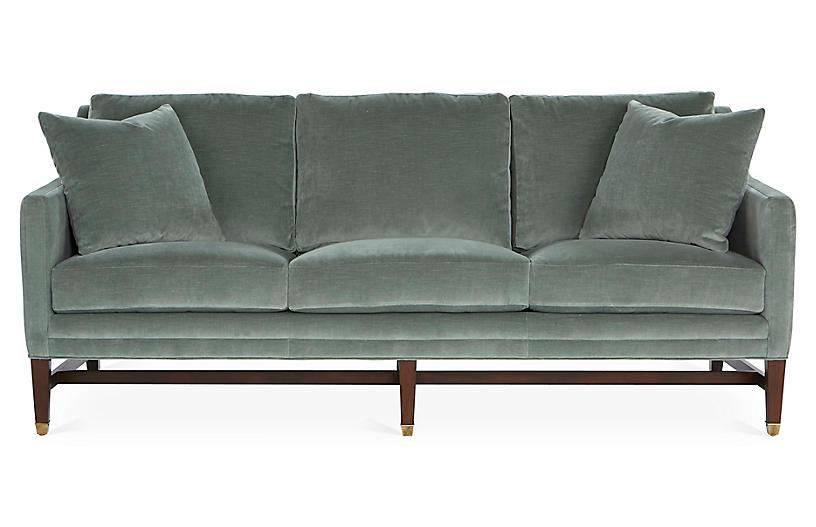Arden Sofa - Sage Velvet