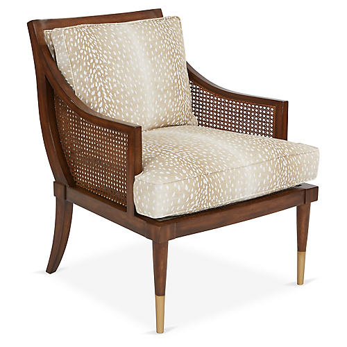 Kirkwood Accent Chair, Fawn Linen