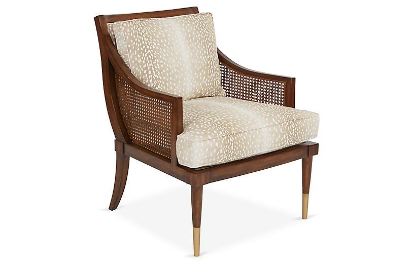 Kirkwood Accent Chair, Fawn Linen