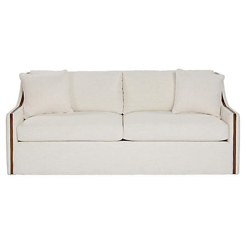 Colby Sofa, Snow Crypton