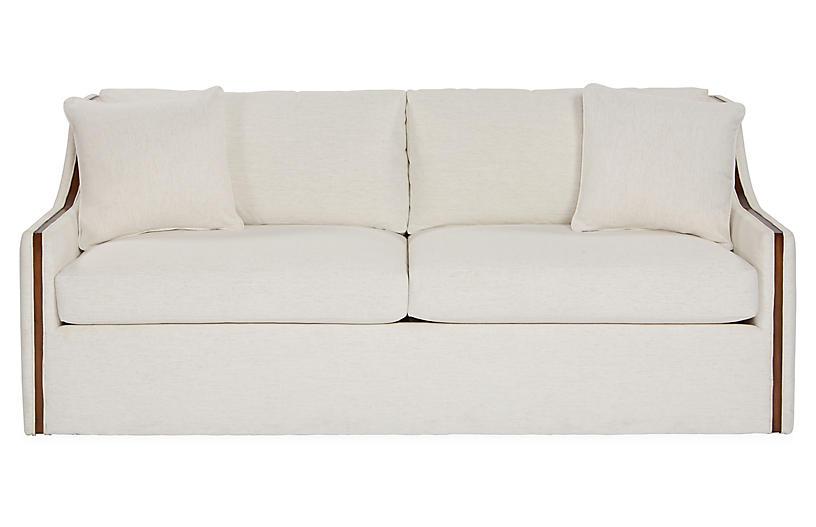 Colby Sofa, Snow Crypton