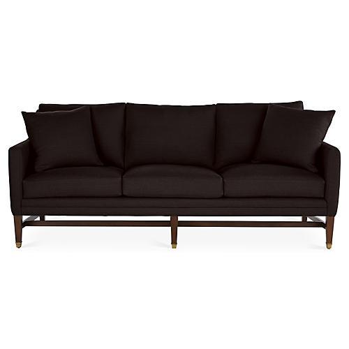 Arden Sofa, Black Linen