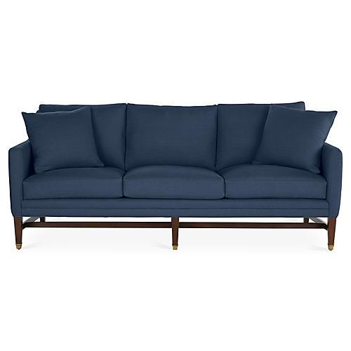 Arden Sofa, Indigo Linen