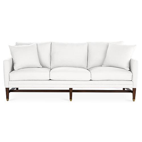 Arden Sofa, White Linen