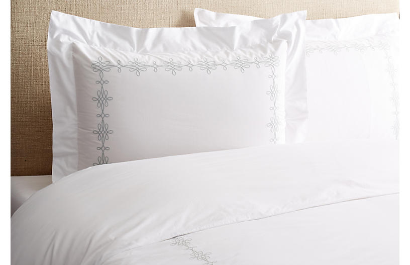 Bernini Duvet Set, Silver