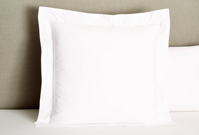 Filetto Euro Sham, White