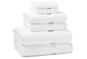 6-Pc Towel Set, White