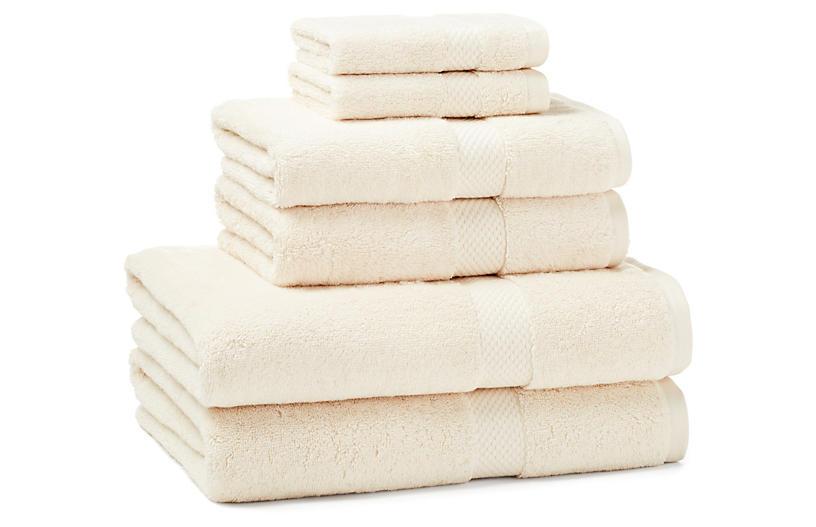 6-Pc Guesthouse Towel Set, Cream