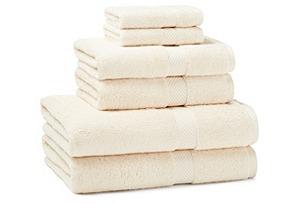 6-Pc Towel Set, Cream