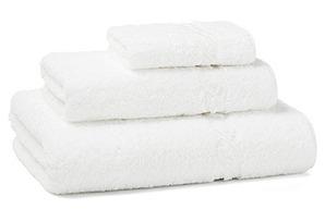 3-Pc Venezia Towel Set, White