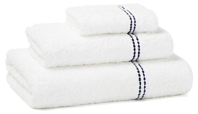 Peregrina 3-Pc Towel Set, White