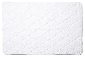 Quilted Tub Mat, White