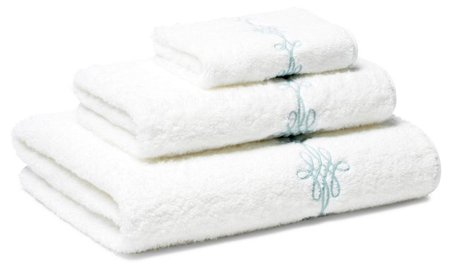 Bernini 3-Pc Towel Set, Opal