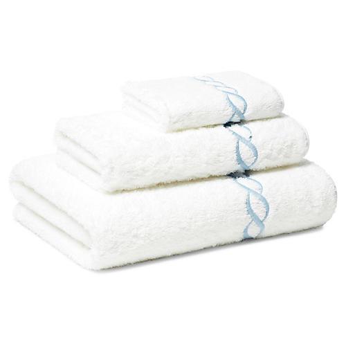 Venezia 3-Pc Towel Set, Blue