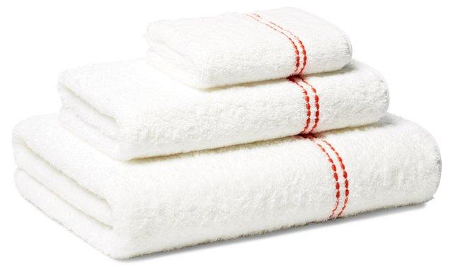 Peregrina 3-Pc Towel Set, Coral