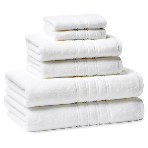 6-Pc Alessio Towel Set, White