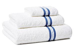 Cintura 3-Pc Towel Set, Blue