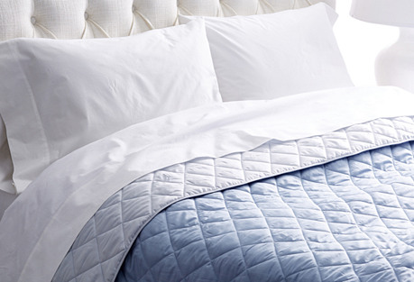 Elido Quilt, Chambray