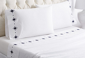 Star Sheet Set, Navy*