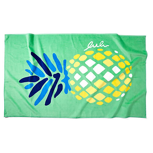 Pineapple Beach Towel, Mint