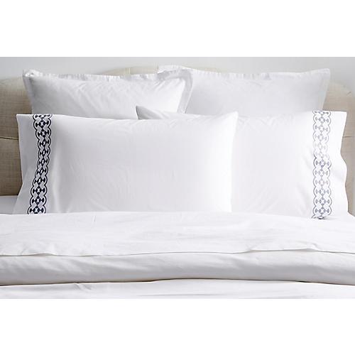 S/2 Juliette Pillowcases, Slate