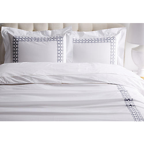 Juliette Duvet Set, Slate