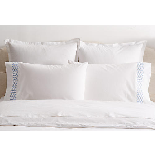 S/2 Cleo Standard Pillowcases, Blue