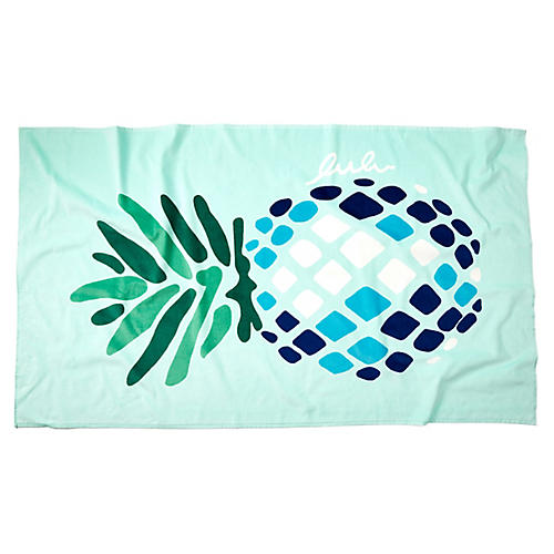 Pineapple Beach Towel, Aqua