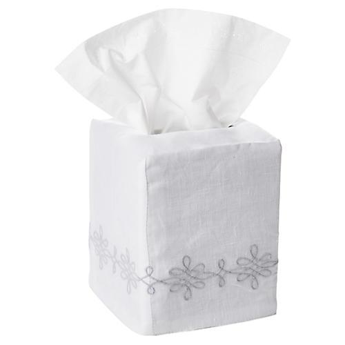 Bernini Tissue-Box Cover, Silver