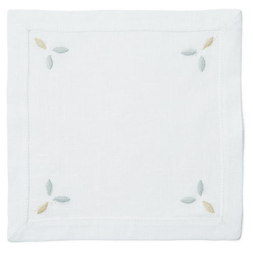S/6 Baru Cocktail Napkins, White/Multi