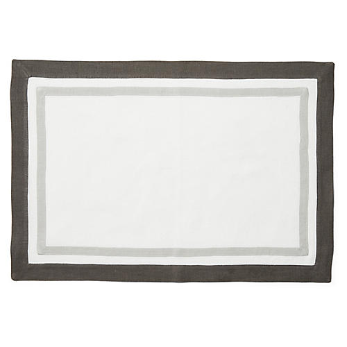 S/4 Kips Place Mats, White/Smoke