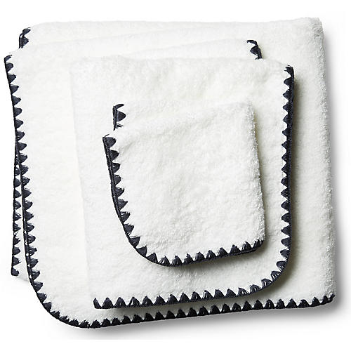 3-Pc Seychelles Towel Set, Navy