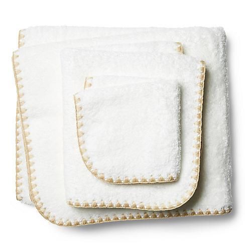 3-Pc Seychelles Towel Set, Champagne