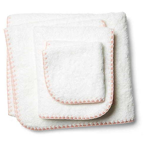 3-Pc Seychelles Towel Set, Blush