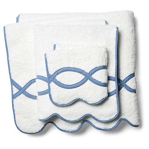3-Pc Gianna Towel Set, Blue